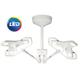 Burton Outpatient LED Procedure Light with Double Ceiling Mount. MFID: OPLEDDC