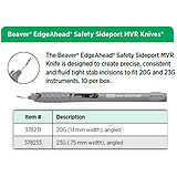 Beaver EdgeAhead Safety Sideport MVR Knife, 20G (1.1 mm width), angled. MFID: 378231