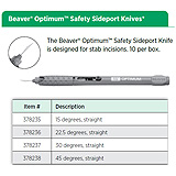 Beaver Optimum Safety Sideport Knife, 22.5 degrees, straight. MFID: 378236