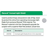 Merocel Corneal Light Shield, 8 mm (.3 in) diameter. MFID: BV400106
