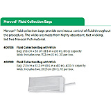 Merocel Fluid Collection Bag (21.6 cm x 5.1 cm, 80 cc) with Wick. MFID: 400108