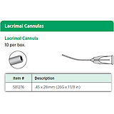 Visitec Lacrimal Cannula, .45 x 28 mm (26G x 1 1/8 in). MFID: 581276