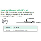 Visitec Coaxial Irrigation & Aspiration Cannula (Modified) [Pearce], 1.2mm (18G)/.80mm (21G). MFID: 581279