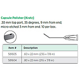 Visitec Capsule Polisher [Kratz], .80 x 22 mm (21G x 7/8 in). MFID: 581604