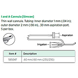Visitec Irrigation & Aspiration Cannula [Simcoe], .60 mm/.60 mm (23G/23G). MFID: 585047