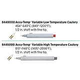 "Accu-Temp Variable High Temperature Cautery, 1495º-2098ºF, ½"" shaft, Fine Tip. MFID: 8446000"