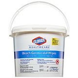 "CLOROX Healthcare Bleach Germicidal Wipes Bucket, 12""x12"". MFID: 30358"