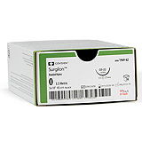 "Covidien SURGILON Nylon Suture, Taper Point, Size 0, Black, 30"", Needle V-20, ½ Circle. MFID: 8886195161"