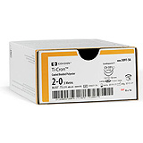 "Covidien TI-CRON Polyester Suture, Cutting, Size 0, Blue, 30"", Needle SC-1, Straight. MFID: 8886316361"