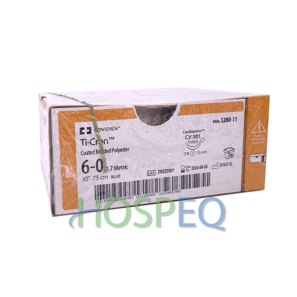 Covidien Ti Cron Polyester Suture Taper Point Size 6 0 Blue 30 Needle Cv 301 3 8 Circle Mfid 8886328011