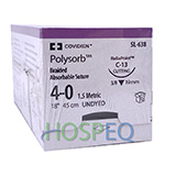 "Covidien POLYSORB Suture, Reverse Cutting, Size 4-0, Undyed, 18"", Needle C-13. MFID: SL638"