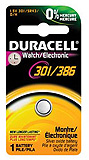 DURACELL Medical & Electronic Battery, Silver Oxide, Size 301/386, 1.5V, 6/bx, 6 bx/cs. MFID: D301/386PK