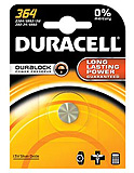 DURACELL Medical & Electronic Battery, Silver Oxide, Size 364, 1.5V, 6/bx, 6 bx/cs. MFID: D364BPK