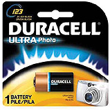 DURACELL Photo Battery, Lithium, Size DL123A, 3V, 6/bx. MFID: DL123ABPK