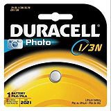 DURACELL Photo Battery, Lithium, Size DL 1/3N, 3V, 6/bx. MFID: DL1/3NBPK