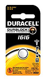 DURACELL Watch Battery, Lithium, Size DL1616, 3V, 6/bx, 6 bx/cs. MFID: DL1616BPK