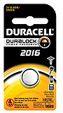 DURACELL Watch Battery, Lithium, Size DL2016, 3V, 6/bx. MFID: DL2016BPK