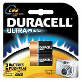 DURACELL Photo Battery, Lithium, Size DLCR2, 3V, 2/pk, 6 pk/bx, 6 bx/cs. MFID: DLCR2B2PK