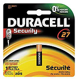 DURACELL Watch Battery, Alkaline, Size 27, 12V, 6/bx, 6 bx/cs. MFID: MN27BPK