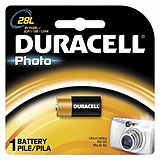 DURACELL Photo Battery, Alkaline, Size 28L, 6V, 6/bx. MFID: PX28LBPK