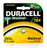 DURACELL Medical & Electronic Battery, Alkaline, Size 76A, 1.5V, 6/cs. MFID: PX76A675PK