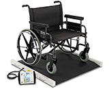 DETECTO Bariatric Wheelchair Scale, 1000 lb / 450 kg, Extra Wide Platform for Oversized Wheelchairs. MFID: BRW1000