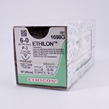 "Ethicon ETHILON Suture, Precision Point - Reverse Cutting, P-3, 18"", Size 6-0, 1 dozen. MFID: 1698G"