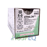 "Ethicon ETHILON Suture, Precision Point - Reverse Cutting, P-3, 18"", Size 5-0, 1 dozen. MFID: 698G"