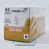 "ETHICON Suture, Surgical Gut - Chromic, MICROPOINT-Reverse Cutting, G-1, 18"", Size 6-0. MFID: 796G"