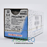 "ETHICON Suture, PROLENE, Precision Point - Reverse Cutting, P-3, 18"", Size 6-0. MFID: 8695G"
