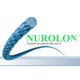 "Ethicon NUROLON Suture, Taper Point, SH, 8-18"", Size 4-0, 1 dozen. MFID: C514D"