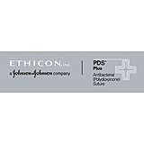 "ETHICON Suture, PDS Plus, Precision Cosmetic - Conventional Cutting PRIME, PC-5, 18"", Size 4-0. MFID: PDP823G"
