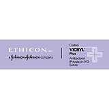 "ETHICON Suture, Coated VICRYL Plus, Precision Cosmetic - Conventional Cutting PRIME, PC-5, 18"", 4-0. MFID: VCP823G"