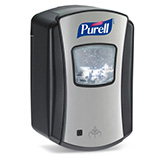 PURELL LTX-7 Touch-Free Dispenser, for PURELL 700mL Hand Sanitizer Refills, Chrome/Black. MFID: 1328-04