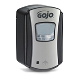 GOJO LTX-7 Touch-Free Foam Soap Dispenser for GOJO 700mL Soap, Chrome/Black. MFID: 1388-04