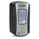 GOJO LTX-12 Touch-Free Dispenser for GOJO 1200mL Foam Soap, Chrome/Black. MFID: 1919-04