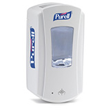 PURELL LTX-12 Dispenser, Touch-Free, for PURELL 1200mL Hand Sanitizer Refills, White/White. MFID: 1920-04