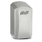 PURELL LTX Behavioral Health Dispenser, Time-Delayed Output, Touch-Free, for PURELL 1200mL Hand Sanitizer. MFID: 1926-01-DLY
