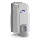 PURELL NXT SPACE SAVER Push-Style Dispenser for PURELL Hand Sanitizer Gel (1000mL Refills). MFID: 2120-06