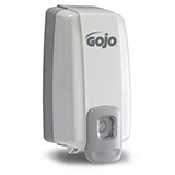 GOJO NXT SPACE SAVER Push-Style Dispenser for GOJO Soap or Lotion, Dove Gray. MFID: 2130-06