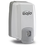 GOJO NXT MAXIMUM CAPACITY Push-Style Dispenser for GOJO Lotion Soap, Gray. MFID: 2230-08