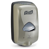 PURELL TFX Touch-Free Dispenser for 1200mL PURELL Hand Sanitizer Refills, Nickel. MFID: 2780-12