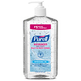 PURELL Advanced Hand Sanitizer Refreshing Gel, 20 fl oz Table Top Pump Bottle. MFID: 3023-12