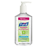 PURELL Advanced Hand Sanitizer Green Certified Gel, 12 fl oz Table Top Pump Bottle. MFID: 3691-12