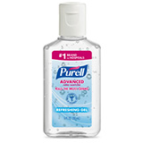 PURELL Advanced Hand Sanitizer, Refreshing Gel, Clean Scent, 1 fl oz Portable flip-Cap Bottle. MFID: 3901-72-CMR