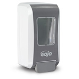 GOJO FMX-20 Push-Style Dispenser for GOJO 2000mL Foam Soap, White/ Gray. MFID: 5270-06