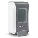 PROVON FMX-20 Push-Style Dispenser for PROVON Foam Soap or Shower Soap, White/ Gray. MFID: 5277-06