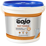 GOJO Heavy Duty Hand Cleaning Towels, 130 Count Bucket. MFID: 6298-04