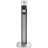 PURELL MESSENGER ES8 Graphite Panel Floor Stand with Touch-Free Dispenser Stand for 1200mL Hand Sanitizer. MFID: 7318-DS-SLV