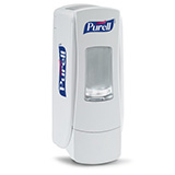 PURELL ADX-7 Push-Style Dispenser for PURELL 700mL Hand Sanitizer Refills, White. MFID: 8720-06